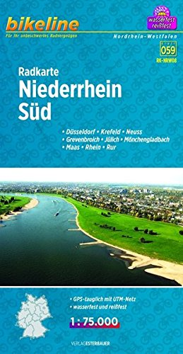 9783850003896: Bikeline Radkarte Niederrhein Süd 1 : 75 000