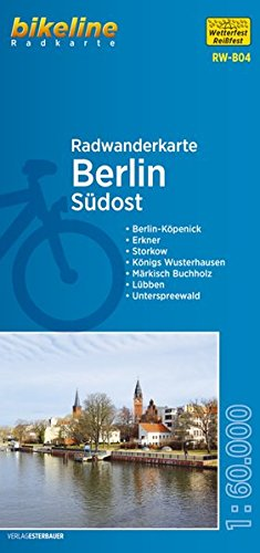 9783850003988: Berlin southeast cycling tour map r/v wp