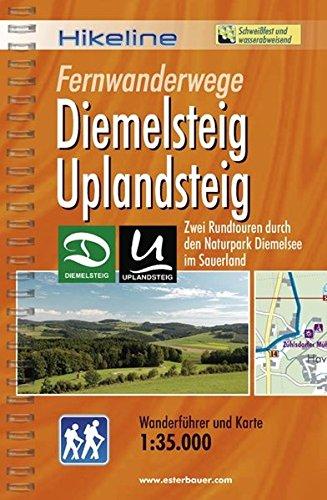 9783850005210: Hikeline Wanderführer Fernwanderwege Diemelsteig Uplandsteig: Zwei Rundtouren durch den Naturpark Diemelsee im Sauerland