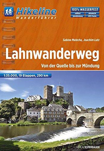 9783850005357: Hikeline Wanderf�hrer Fernwanderweg Lahnwanderweg 1 : 35 000: Von der Quelle bis zur M�ndung, 19 Etappen, 1:35.000, 290 km