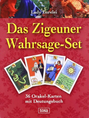 9783850033107: Das Zigeuner-Wahrsage-Set: 36 Orakel-Karten mit Deutungsbuch