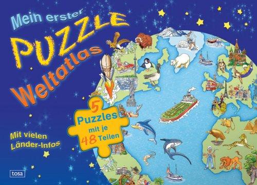 9783850033169: Mein erster Puzzle-Weltatlas: 5 Puzzles mit je 48 Teilen