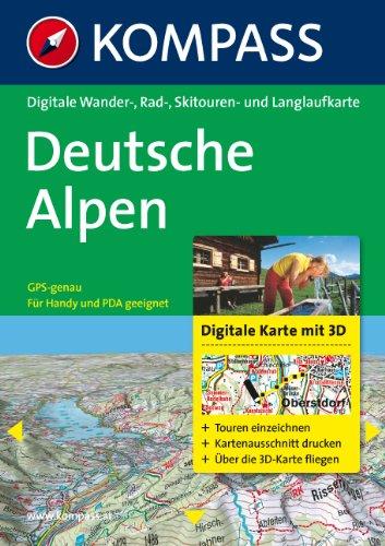 9783850260503: Deutsche Alpen 3D: Digitale Wander- , Rad-, Skitouren- und Langlaufkarte