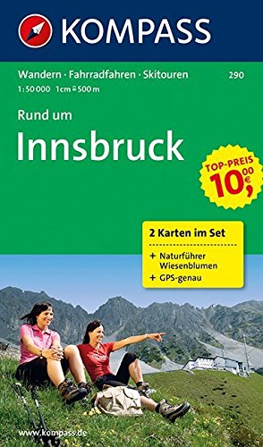 9783850261104: Carta escursionistica n. 290. Austria. Tirolo... Rund um Innsbruck set 2 cart. 1:50.000. Con guida nat. Adatto a GPS. Digital map. DVD-ROM. Ediz. bilingue