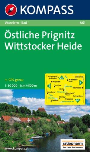Östliche Prignitz - Wittstocker Heide 1 : 50 000: Wanderkarte mit Radrouten. GPS-genau