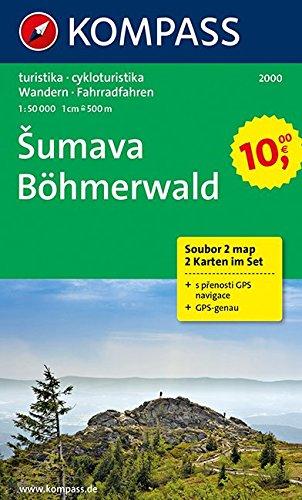 9783850261302: Carta escursionistica n. 2000. Repubblica Ceca. Böhmerwald/Sumava set 2 cartine 1:50.000. Adatto a GPS. DVD-ROM digital map: 2-delige Wandelkaart 1:50 000