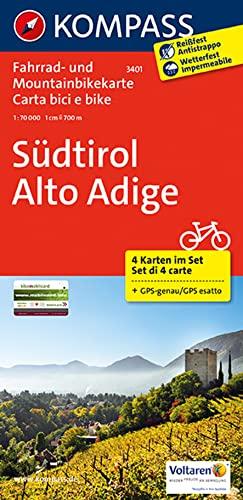 9783850261456: Carta cicloturistica. Südtirol-Alto Adige 1:70.000 (set 4 carte)