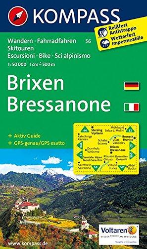 9783850261517: Brixen / Bressanone 1 : 50 000: Wanderkarte mit Aktiiv Guide, Radrouten und alpinen Skirouten. Dt. /Ital. GPS-genau. 1:50000