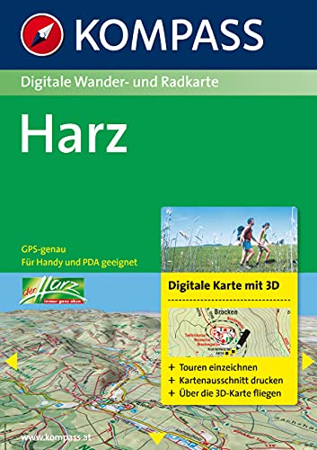 9783850261616: Carta digitale n. 4450. Germania. Harz 1:50.000. DVD-ROM digital map
