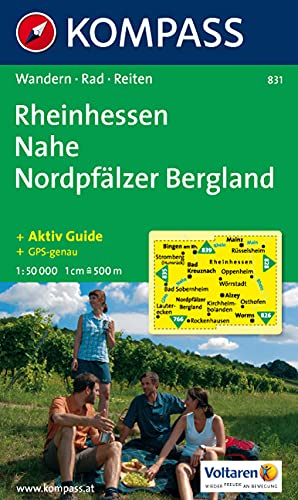 9783850261906: Carta escursionistica e stradale n. 831. Rheinhessen, Nahe, Nordpfälzer Bergland. Adatto a GPS. DVD-ROM. Digital map