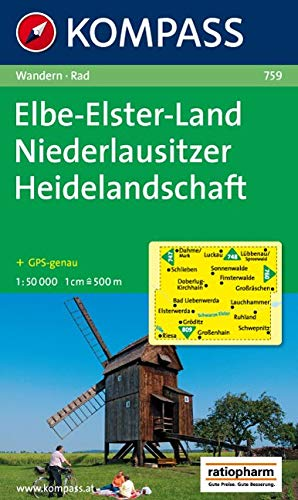 Carta escursionistica e stradale n. 759. Elbe-Elster-Land. Adatto a GPS. DVD-ROM. Digital map