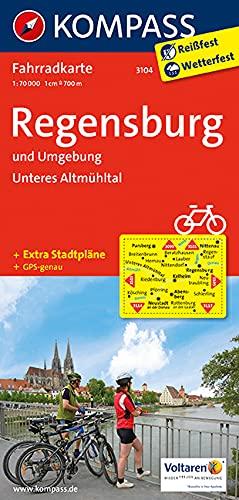 9783850263214: Regensburg und Umgebung - Unteres Altmühltal 1 : 70 000: Radkarte. GPS-genau