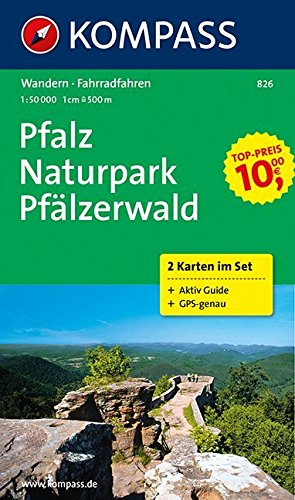 9783850263535: Pfalz - Naturpark Pfälzerwald 1 : 50 000: Wanderkarten-Set mit Radrouten und Aktiv Guide in der Schutzhülle. GPS-genau.