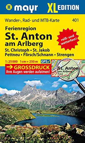 9783850264310: St. Anton am Arlberg XL 1 : 25 000: Wander-, Rad- und Mountainbikekarte. GPS-genau