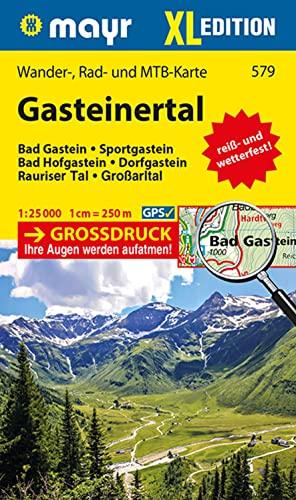 9783850264440: Gasteinertal XL 1 : 25 000: Wander-, Rad- und Mountainbikekarte. GPS-genau