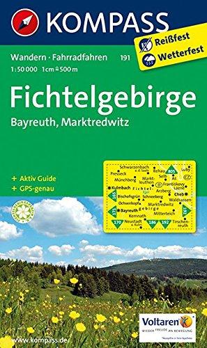 9783850264532: Kompass WK191 Fichtelgebirge, Bayreuth, Marktredwitz: Wandelkaart 1:50 000