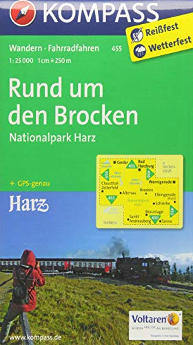 9783850264747: Rund um den Brocken - Nationalpark Harz 1 : 25 000: Wanderkarte mit Radrouten. GPS-genau