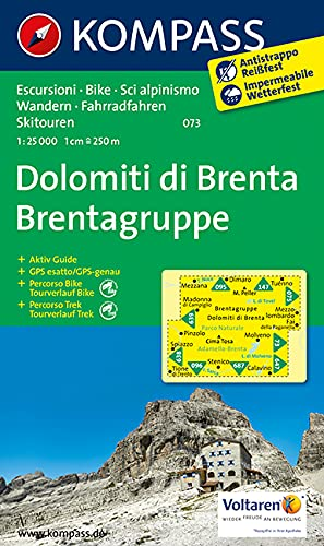 9783850264945: Carta escursionistica n. 073. Dolomiti di Brenta 1:30.000. Adatto a GPS. DVD-ROM. Digital map