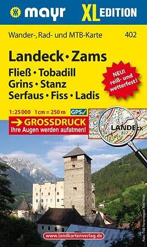 9783850264969: Landeck - Zams XL 1 : 25 000: Wander-, Rad- und Mountainbikekarte. GPS-genau