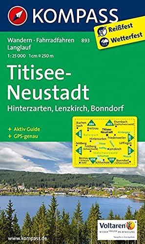 9783850265041: Titisee - Neustadt 1 : 25 000: Hinterzarten, Lenzkirch, Bonndorf. Wanderkarte mit Kurzführer, Radwegen und Loipen. GPS-genau