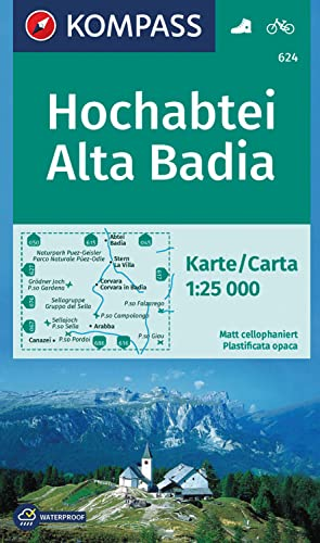 9783850265355: Carta escursionistica n. 624. Alta Badia-Hochabtei 1:25.000. Adatto a GPS. Digital map. DVD-ROM