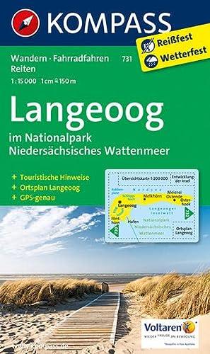 Langeoog 1 : 15 000 im Nationalpark Niedersächsisches Wattenmeer: Wanderkarte mit Rad- und ...