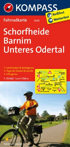 9783850265591: Schorfheide - Barnim - Unteres Odertal 1 : 70 000: Fahrradkarte. GPS-genau
