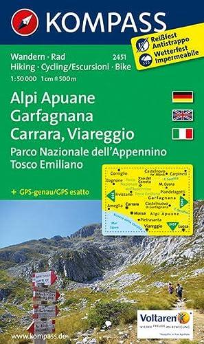 9783850265980: Carta escursionistica n. 2451. Alpi Apuane, Garfagnana, Carrara, Viareggio. Adatto a GPS. DVD-ROM. Digital map