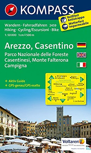9783850266031: Carta escursionistica n. 2459. Arezzo, Casentino. Adatto a GPS. DVD-ROM. Digital map