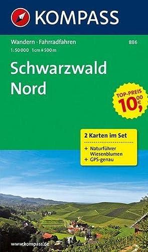 9783850266543: Schwarzwald Nord 886 GPS wp 2-set kompass + Natuurgids: 2-delige Wandelkaart 1:50 000