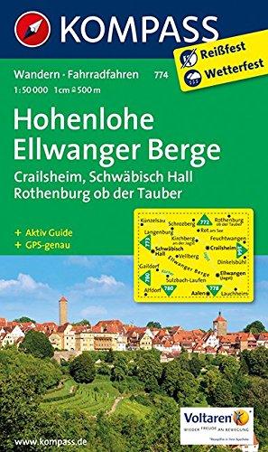 9783850266697: Hohenlohe - Ellwanger Berge 1 : 50 000: Crailsheim, Schw�bisch Hall, Rothenburg ob der Tauber. Wandern / Rad