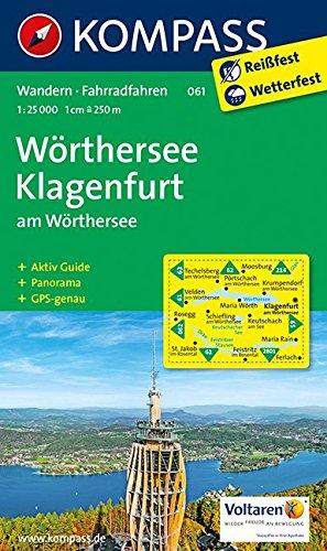 9783850266796: Wörthersee, Klagenfurt am Wörthersee 1 : 25 000: Wander- und Bikekarte. Mit Panorama