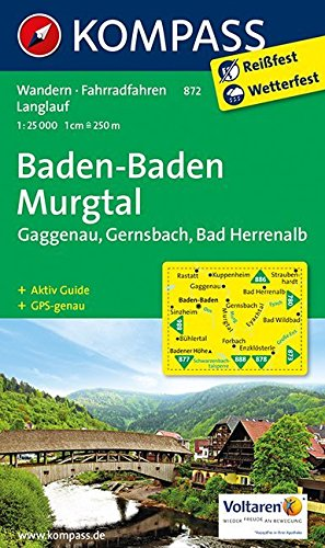 9783850267021: Baden-Baden - Murgtal - Gaggenau - Gernsbach - Bad Herrenalb 1 : 25 000