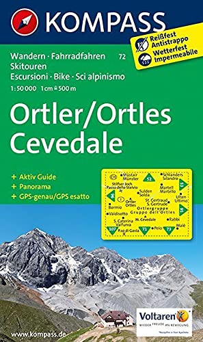 9783850267113: Ortler / Ortles Cevedale 1 : 50 000: Wandern / Rad / Skitouren. Escursioni / Bike / Sci alpinismo.  Panorama, GPS-genau