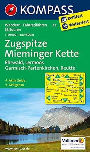 9783850267137: Wanderkarte n. 25. Zugspitze-Mieminger Kette