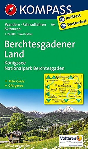 9783850267199: Berchtesgadener Land - Königssee - Nationalpark Berchtesgaden 1 : 25 000: Wanderkarte mit Aktiv Guide, Radrouten und Skitouren. GPS-genau