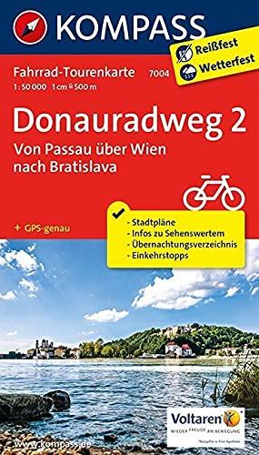 9783850267748: Donauradweg 02. Von Passau über Wien nach Bratislava 1 : 50 000: Fahrrad-Tourenkarte. GPS-genau