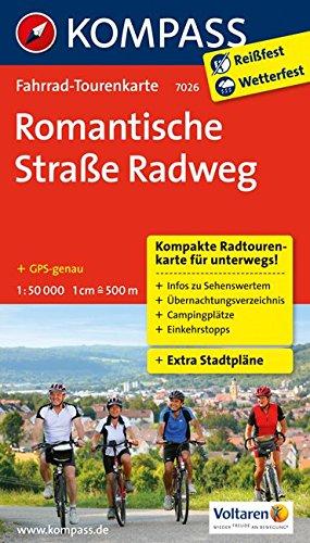 9783850267953: Romantische Straße Radweg 1 : 50000: Fahrrad-Tourenkarte. GPS-genau
