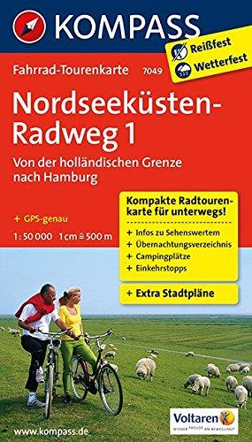 9783850268134: Nordseeküstenradweg 1, Von der holländischen Grenze nach Hamburg/Elbe 1 : 50 000: Fahrrad-Tourenkarte. GPS-genau