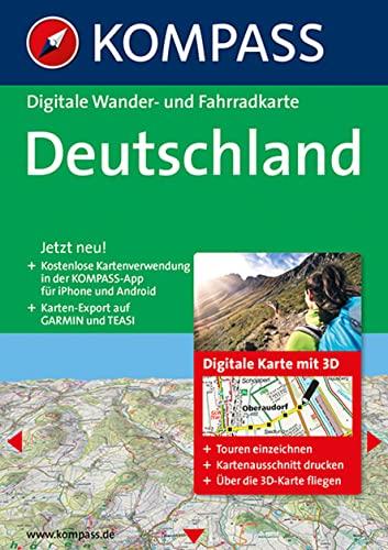 9783850268547: Deutschland 3D: Digitale Wander-, Rad- und Skitourenkarte