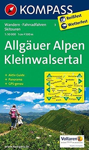 9783850268677: Allgäuer Alpen - Kleinwalsertal 1 : 50 000: Wanderkarte mit Aktiv Guide, Panorama, Radrouten und Skitouren. GPS-genau