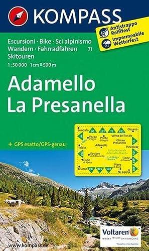9783850268851: Adamello - La Presanella 1 : 50 000: Wanderkarte mit Radrouten und alpinen Skirouten. GPS-genau