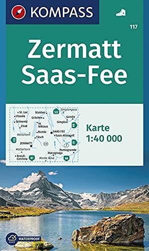 9783850269261: Zermatt - Saas Fee 1 : 40 000: Wanderkarte GPS-genau