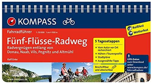 9783850269292: Fünf-Flüsse-Radweg, Radvergnügen entlang von Donau, Naab, Vils, Pegnitz und Altmühl: Fahrradführer mit Top-Routenkarten im optimalen Maßstab
