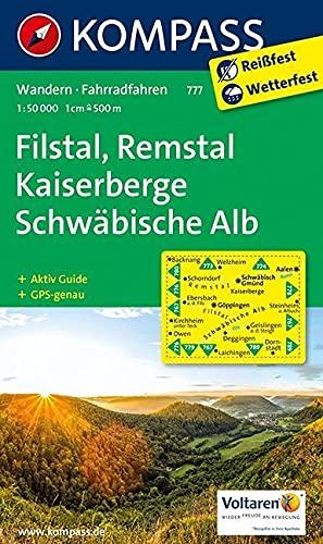 9783850269940: Filstal, Remstal, Kaiserberge, Schwäbische Alb 1 : 50 000: Wanderkarte mit Aktiv Guide und Radwegen. GPS-genau
