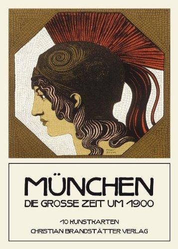 9783850332224: M�nchen - Die gro�e Zeit um 1900: 10 Kunstkarten. Die sch�nsten Karten des Jugendstils