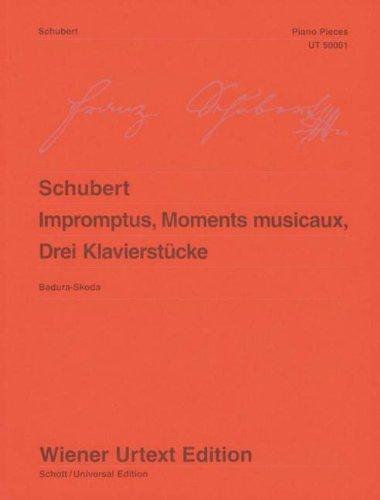 Impromptus, Moments musicaux, 3 Klavierstücke: Nach Autograf und Erstdruck. Klavier. (Wiener Urtext Edition)
