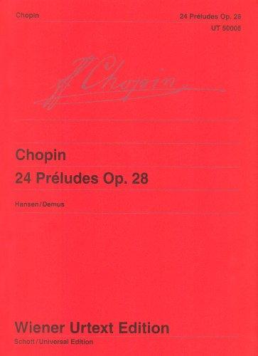 9783850550055: 24 Préludes: Op. 28 / Kritische Anmerkungen mit Hinweisen zur Interpretation