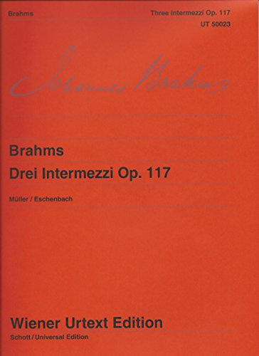 9783850550222: 3 Intermezzos Op 117 (Wiener Urtext)