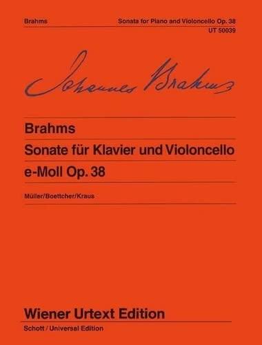 9783850550383: Sonata Op 38 E Minor Op 38 (Wiener Urtext)
